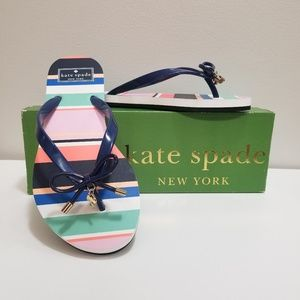 NIB Kate Spade New York Striped Nova Flip Flops